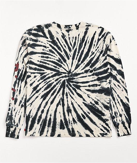Dickies White & Black Tie Dye Long Sleeve T-Shirt
