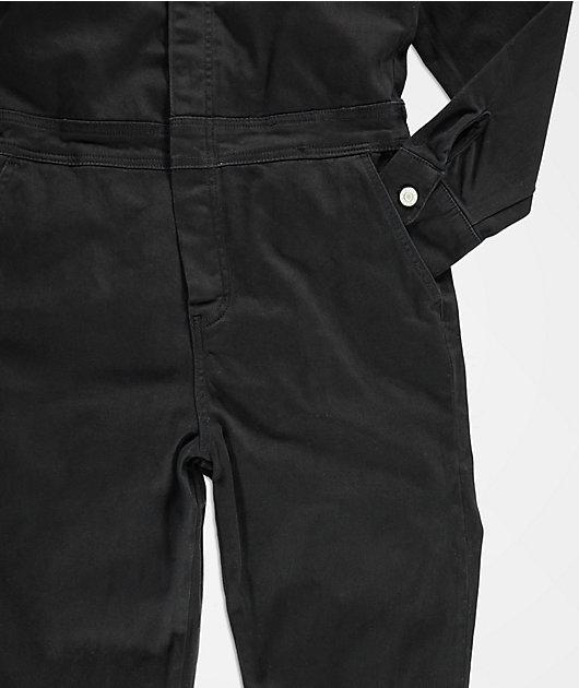 Dickies mono negro con botones delanteros