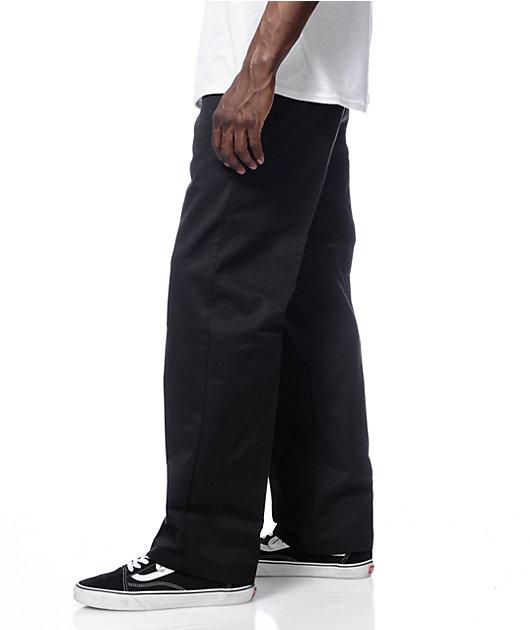 Dickies Pantalones De Trabajo Negros Regular Frente Plano Zumiez