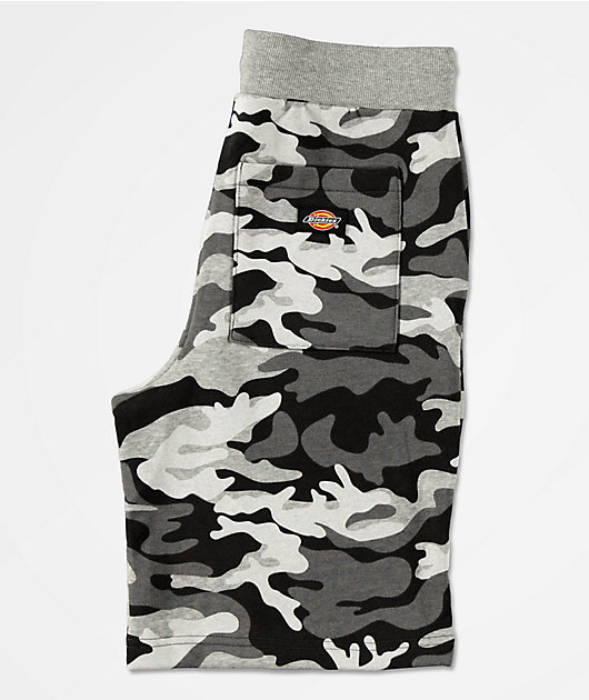 Dickies shorts de punto de punto de camuflaje gris para niños