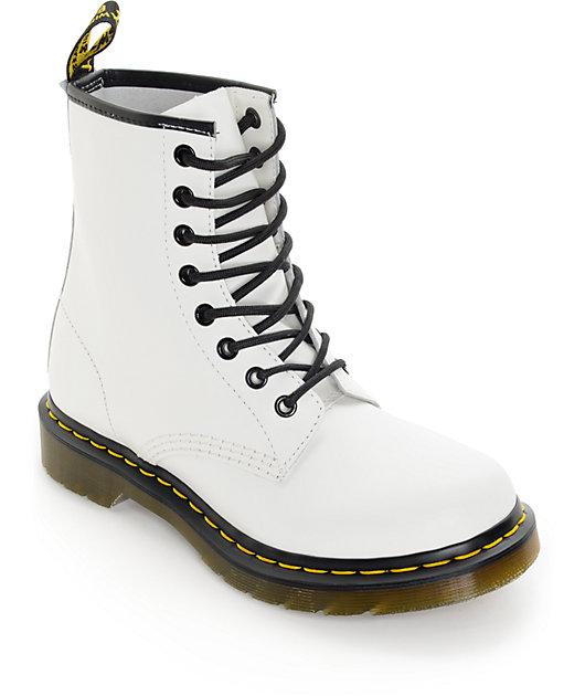 Dr. Marten 1460 White Smooth Boots | Zumiez