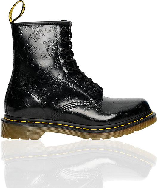 Dr. Martens 1460 Black Flower Boot | Zumiez