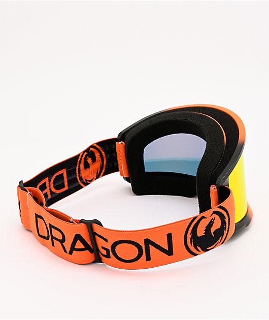 Dragon DX3 OTG Tangerine & Red Ion Snowboard Goggles