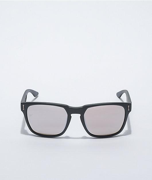 Dragon Monarch XL Matte Black & Silver Ion Sunglasses