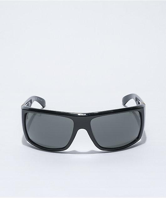 Dragon Vantage Shiny Black Smoke Sunglasses
