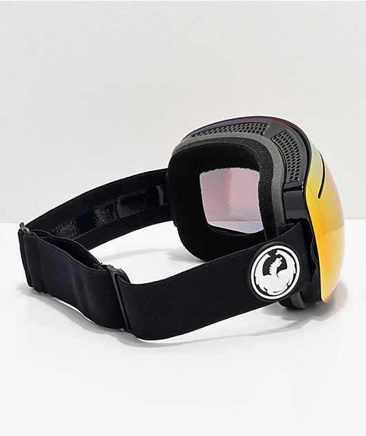 Dragon X1 Black & Red Ion Snowboard Goggles