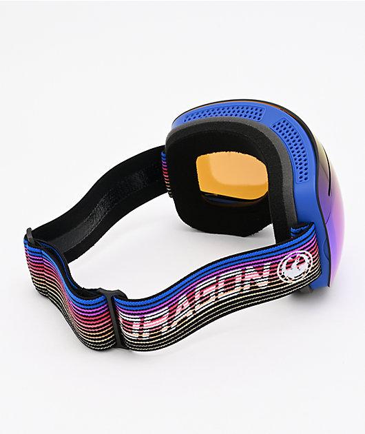 Dragon X1 Gamer & Blue Ion Snowboard Goggles