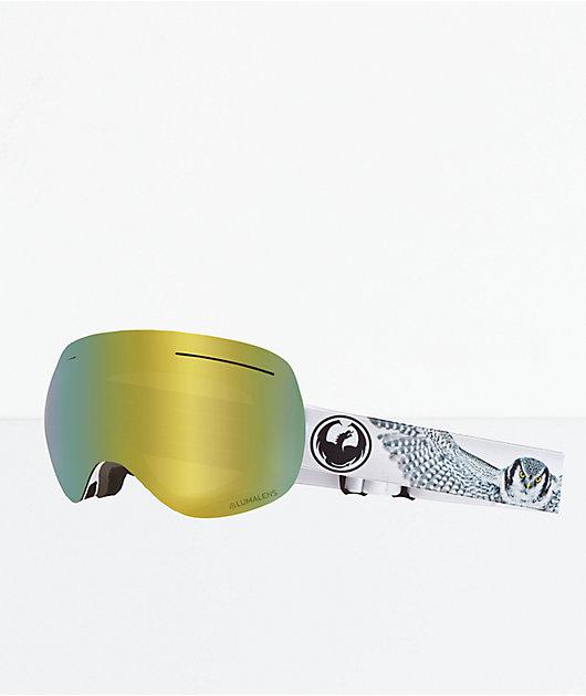 Dragon X1 Prey Gold Ion Snowboard Goggles
