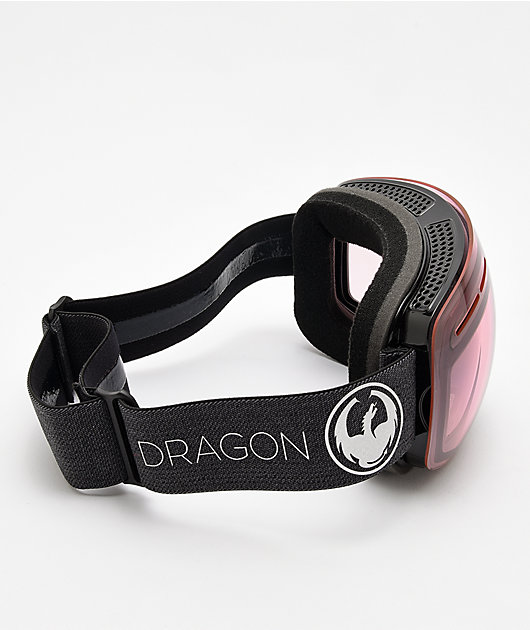 Dragon X1s Echo Photochromatic Light Rose Snowboard Goggles