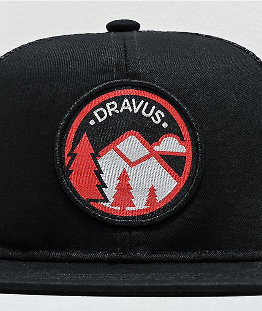 Dravus Adventure Patch gorra negra