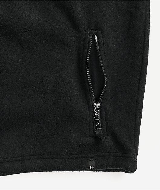 Dravus Alpine Black Fleece Quarter Zip Jacket