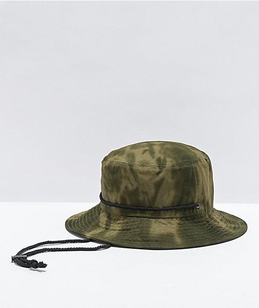 Dravus Cricket Green Tie Dye Bucket Hat