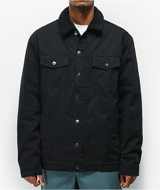 Dravus Daven Black Sherpa Denim Jacket