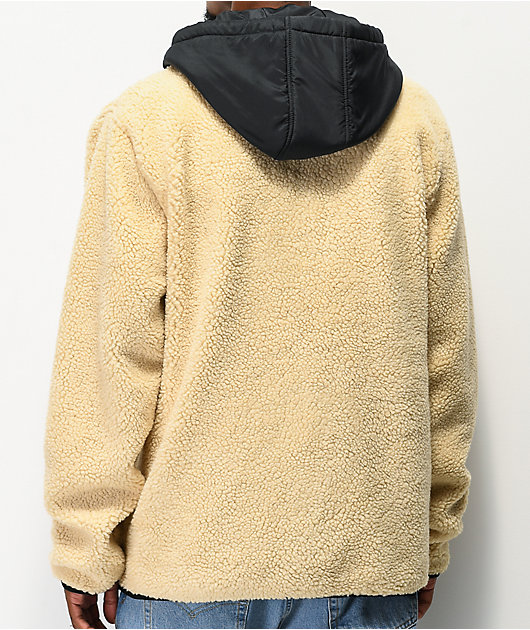 Dravus Denny chaqueta de sherpa blanca