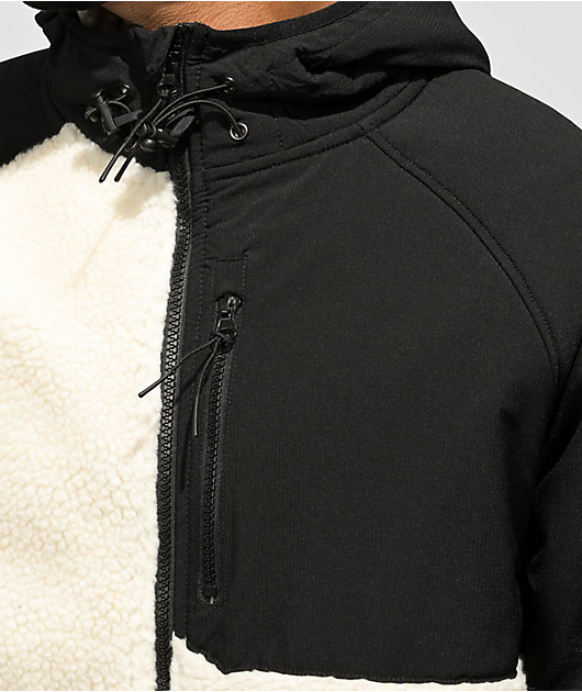 Dravus Ingrain Sherpa Black & White Fleece Jacket