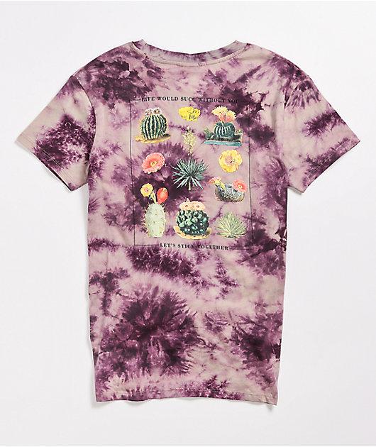 Dravus Joane Cactus Blackberry Tie Dye T-Shirt