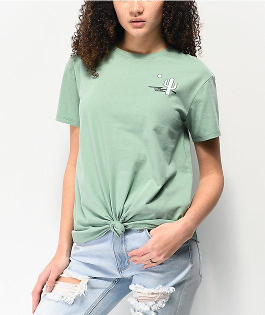 Dravus Joane Desert Green Knot Front T-Shirt
