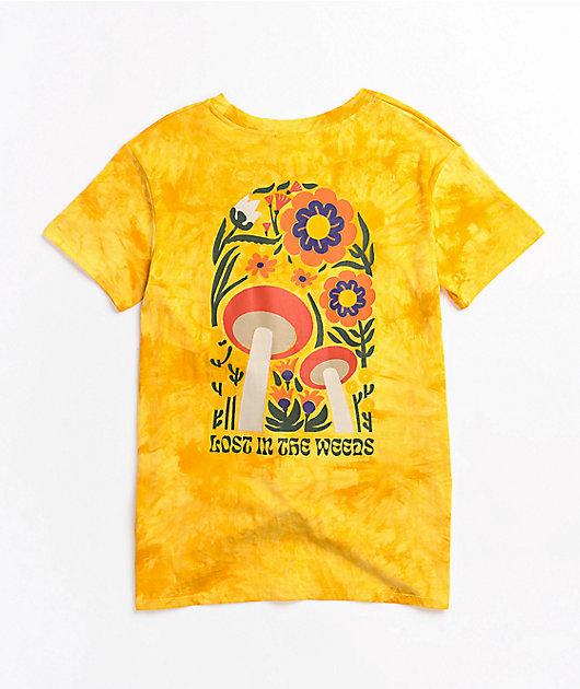 Dravus Joane In The Woods Yellow Tie Dye Tie Front T-Shirt