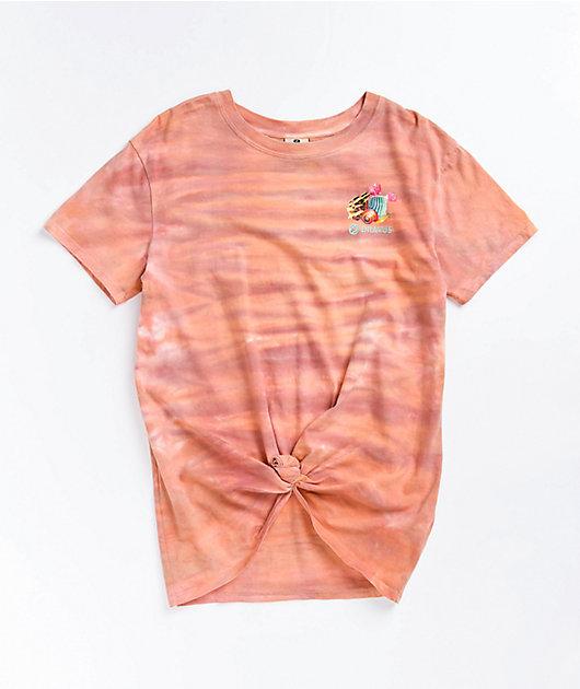 Dravus Joane Road To Nowhere Coral Tie Dye T-Shirt