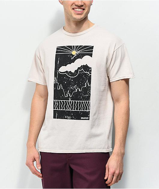 Dravus Partly Cloudy Cream T-Shirt