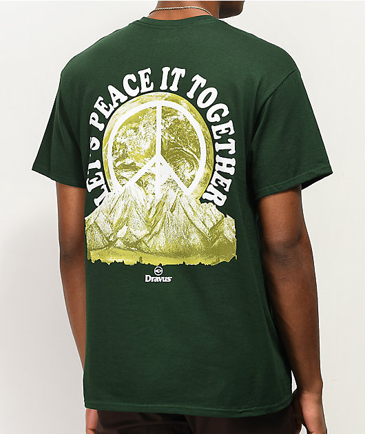 Dravus Peace It Dark Green T-Shirt
