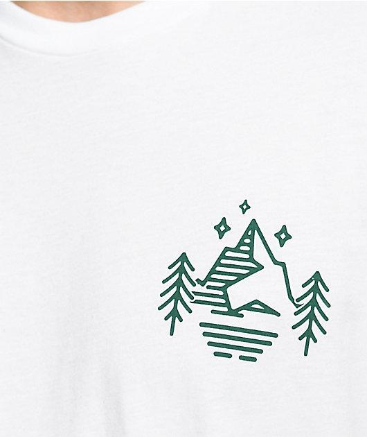 Dravus Peaks & Pines camiseta blanca