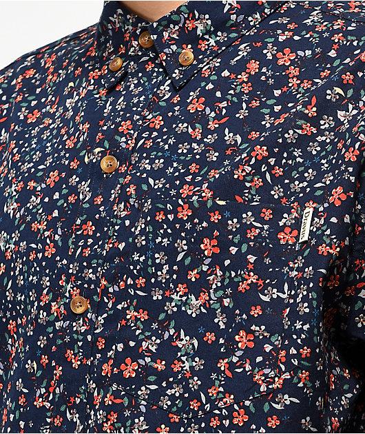 Dravus Ritz camiseta azul marino con botones
