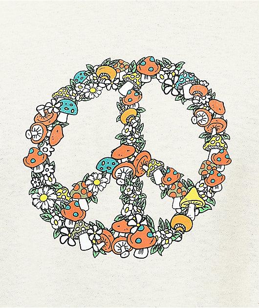 Dravus Symbol Of Peace Cream T-Shirt