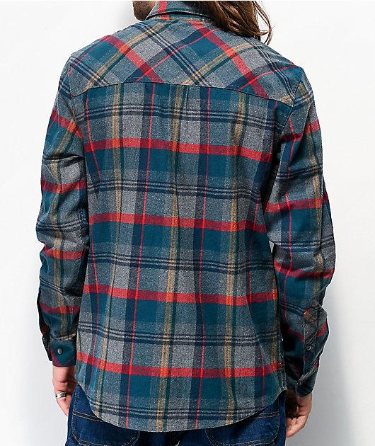 Dravus Travis Blue & Grey Flannel Shirt
