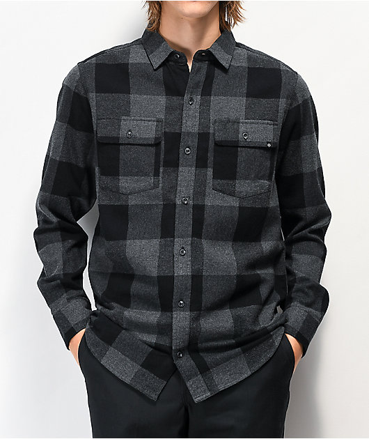 Dravus Travis Grey & Black Flannel Shirt