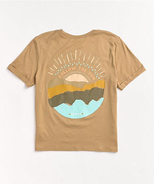 Dravus Yony Sun Beige Crop T-Shirt