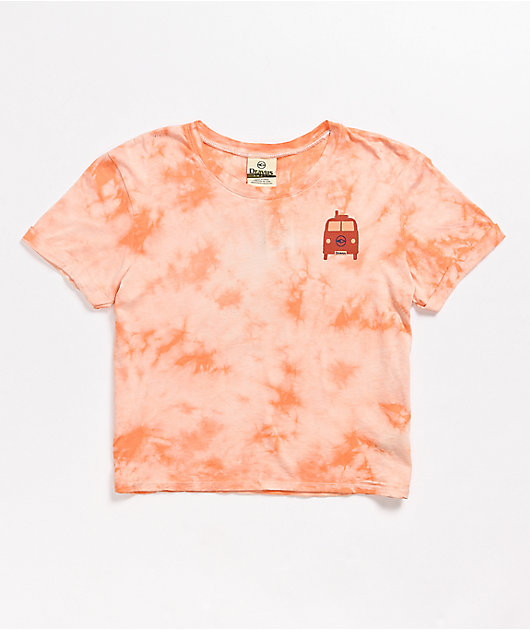 Dravus Yony Sun Seeker Pink Tie Dye Crop T-Shirt