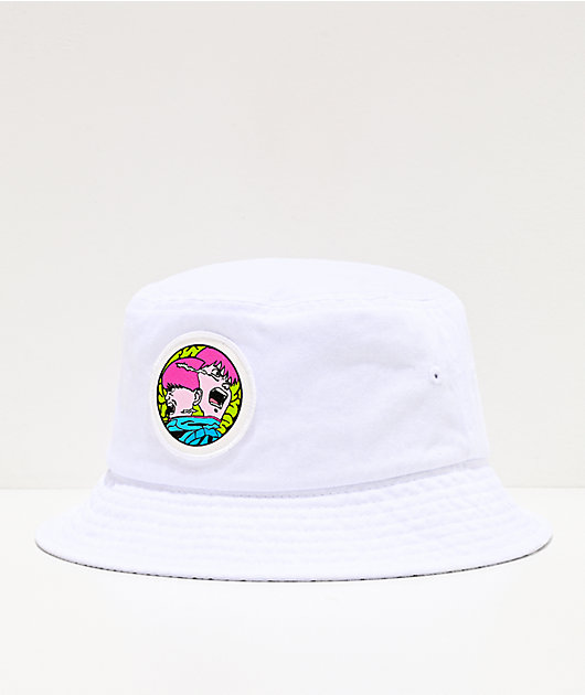 Dreamboy Meltdown White Bucket Hat
