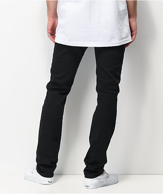 Dript D.088 Patches Black Skinny Jeans