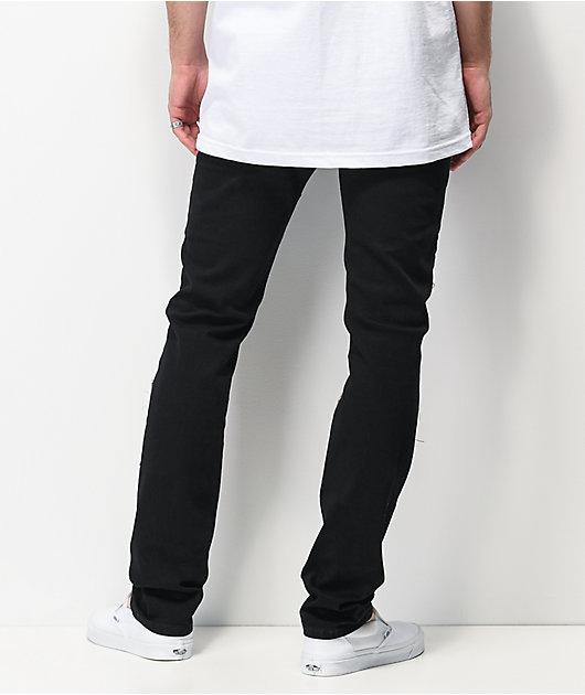 Dript D.088 jeans negros ajustados con parches