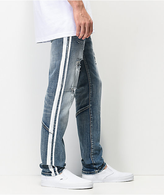 Dript D.091 Racer Blue Distressed Skinny Jeans