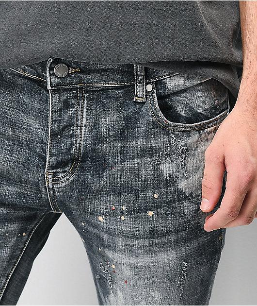Dript Denim D.081 Paint Splatter Skinny Jeans