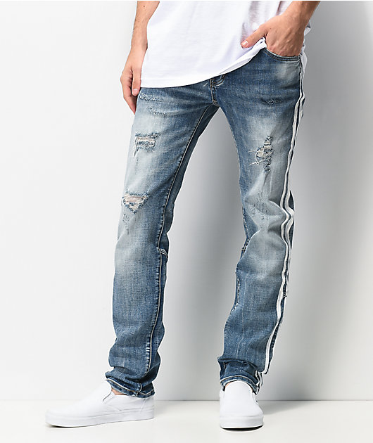Dript Denim D.091 Racer Blue Distressed Skinny Jeans