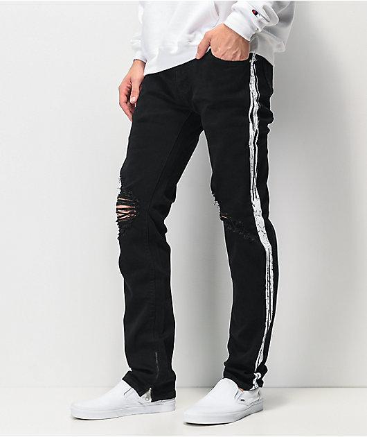 Dript Denim D.097 Racer Black Skinny Jeans
