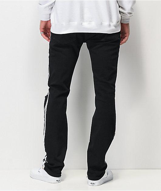 Dript Denim D.097 Racer jeans negros ajustados