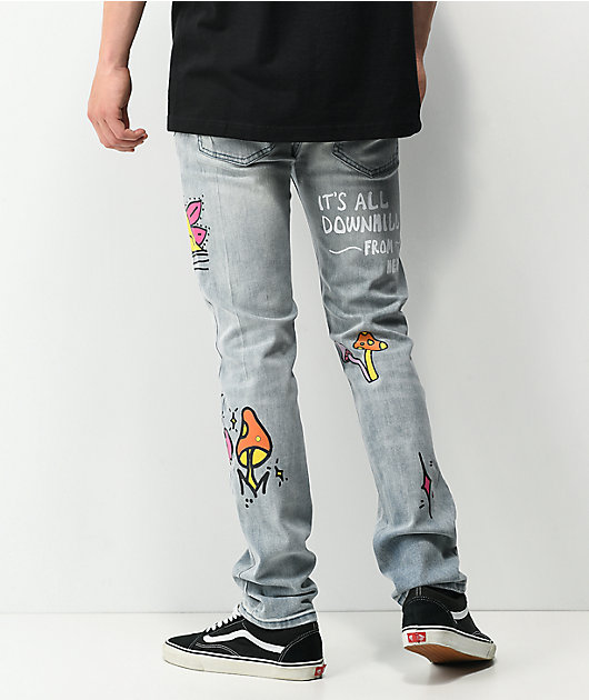 Dript Denim D.1001 Blue Skinny Jeans