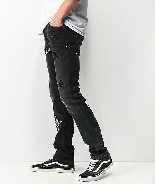 Dript Denim D.1006 Black Skinny Jeans