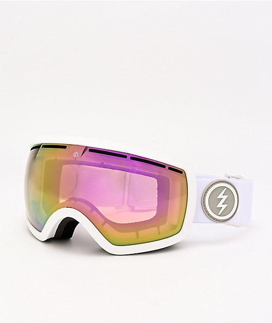Electric EG 2.5 Matte White & Pink Chrome Snowboard Goggles