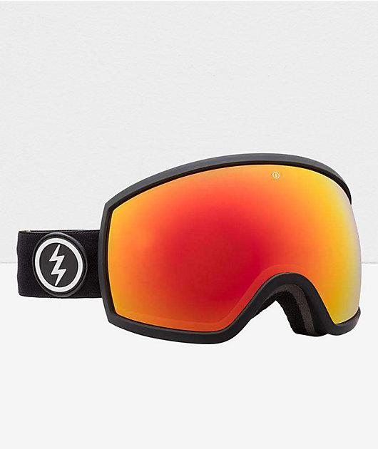 Electric EGG Matte Black & Brose Red Chrome Snowboard Goggles