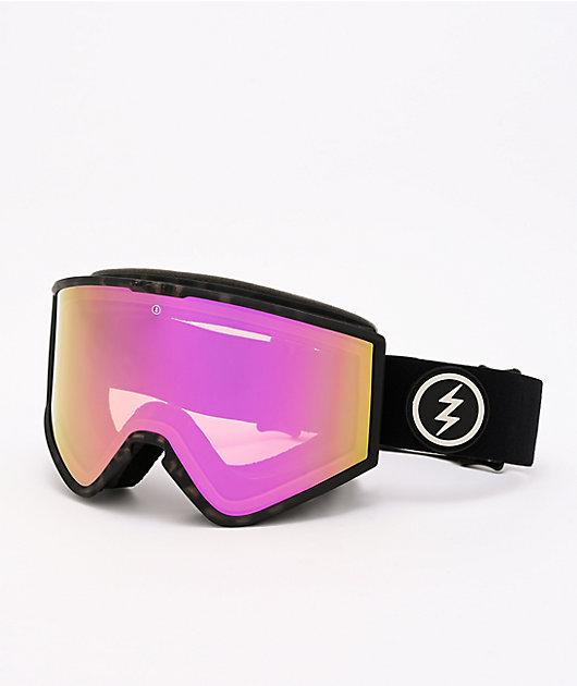 Electric Kleveland Burnt Tort & Pink Chrome Snowboard Goggles