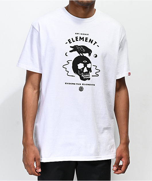 Element Crow White T-Shirt