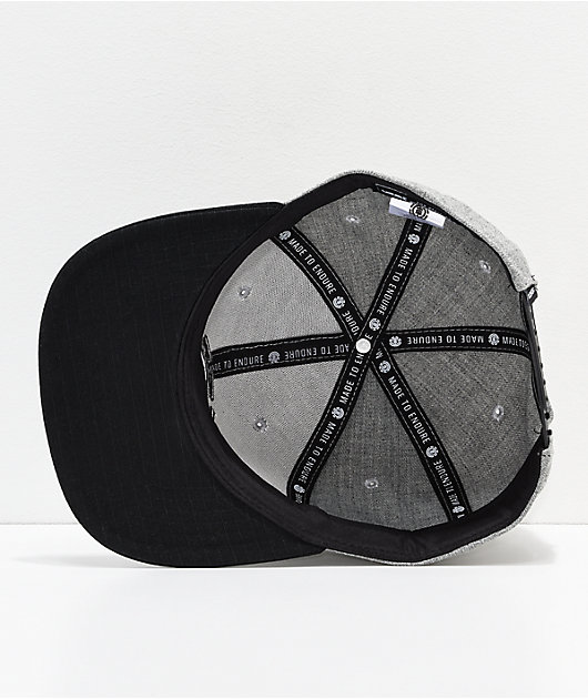 Element Knutsen Grey Snapback Hat