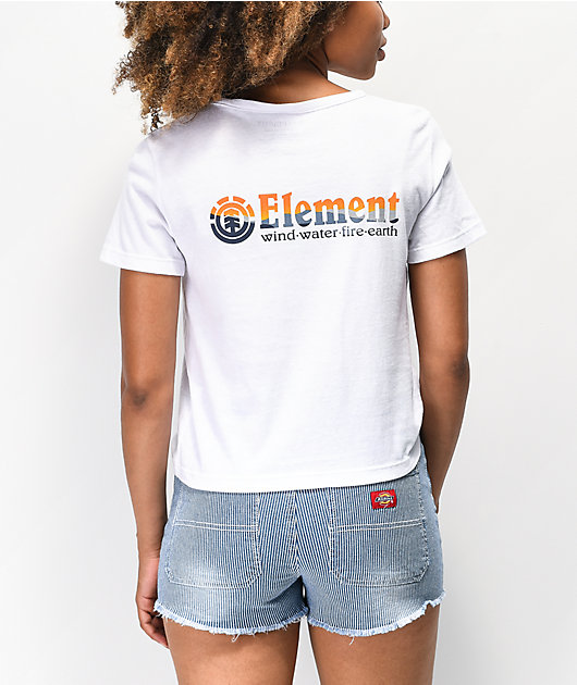 Element Sunset camiseta corta blanca