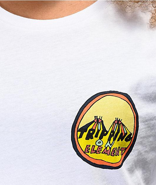 Element Trippin On Element White T-Shirt