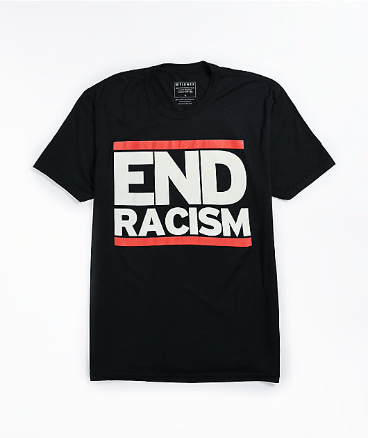 Elenex End Racism Black T-Shirt